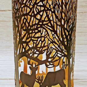 Glowray Stag in Forest Lantern - large