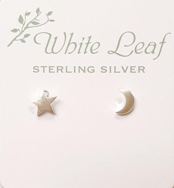 Earrings White Leaf JR Interiors
