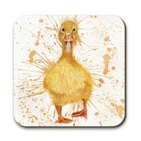 splatter duck coaster by Katherine Williams J R Interiors