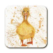 splatter duck coaster by Katherine Williams J R Interiors