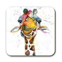 splatter rainbow giraffe coaster J R Interiors